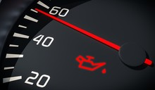 Oil And Engine Malfunction Warning Light Control In Car Dashboard. 3D Rendered Illustration.