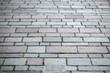 Rectangular brick paving stone road