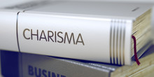 Book Title Of Charisma. 3D.
