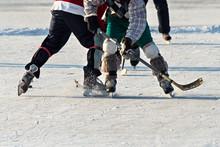 People Playing Amateur Hockey