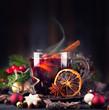 dampfender, fruchtiger Glühwein zum Advent