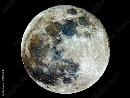 In this photo you can see  Mineral Moon in  full phase. Taken by my telescope and cared by me in post production for details and quality.