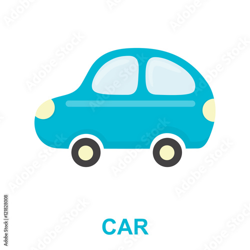 Staande foto Cartoon cars Car toy cartoon icon. Illustration for web and mobile design.