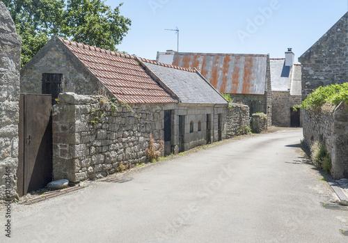Papiers peints Les vieux bâtiments abandonnés Primelin in Brittany