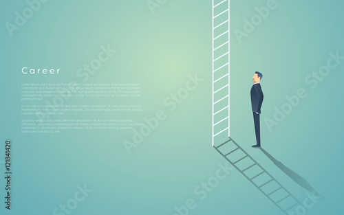 Business career ladder concept with businessman vector symbol Canvas Print