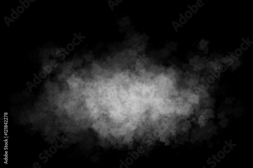 Fotobehang Rook Fog or smoke isolated transparent special effect. White cloudiness, mist or smog background.