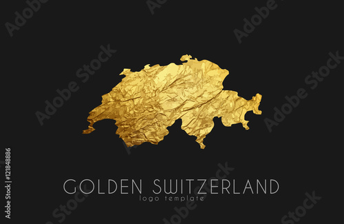 Switzerland map Wallpaper Mural