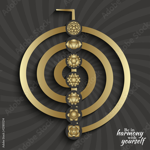 Chakra Pictograms On Choku Rei Symbol Set Of Symbols Used In