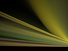 Abstract Fractal In The Form Of A Beam Of Yellow Green Rays