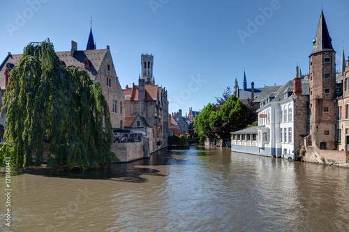 Deurstickers Brugge Bruges et ses canaux - Flandres