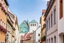 Freiberg Old Town - View To The Dome
