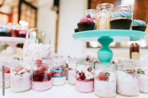 Delicious Wedding Reception Candy Bar Dessert Table For A Wedding
