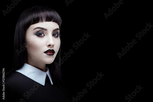 Fotografie, Obraz  Gothic brunette girl