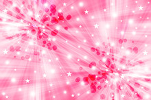 Pink Starburst Background