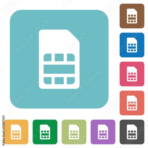 Fotografia, Obraz  Flat SIM card icons