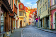 canvas print picture - Old town of Tallinn, Estonia