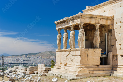 Photo Caryatids at Porch of the Erechtheion, Acropolis