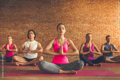 Canvas Prints Yoga school People doing yoga