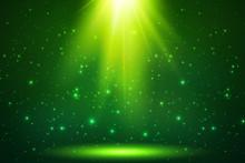Green Magic Top Light Vector Horizontal Background