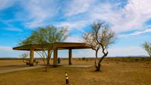 Rest Stop Desert Landscape