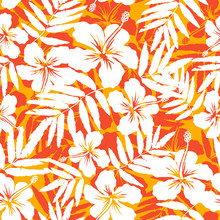 Orange And White Tropical Flow...