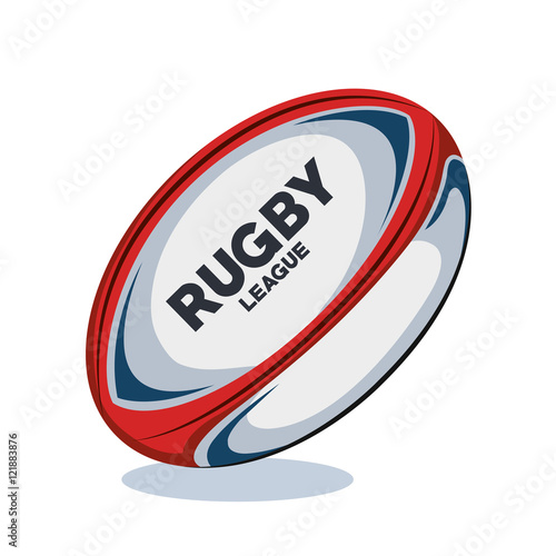 rugby ball red, white and blue design vector illustration eps 10 Tableau sur Toile