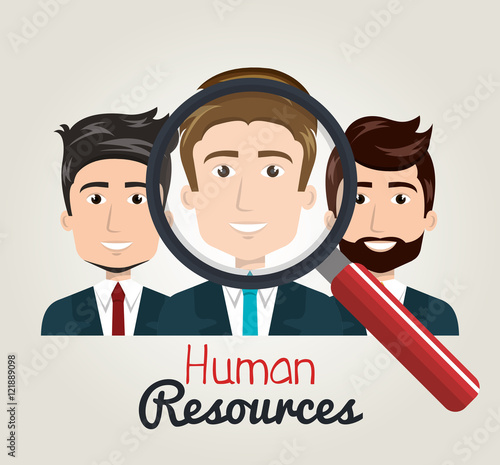 Photo men cartoon human resources search find vector illustration