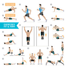 Man Workout Fitness, Aerobic A...