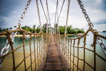 FototapetaWooden bridge