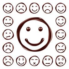 Smileys Set Made Of Chocolate ...