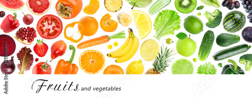 Tuinposter Verse groenten fruits and vegetables