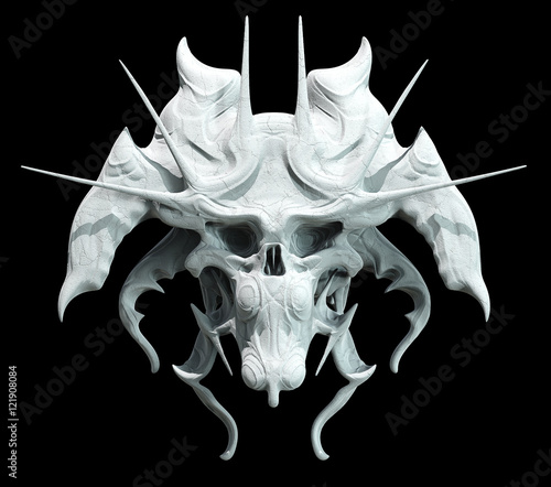 Photo Monster skull design on a black background for Halloween