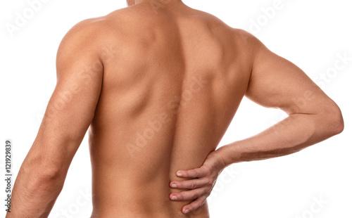 Plakat Człowiek odczuwa ból w plecach