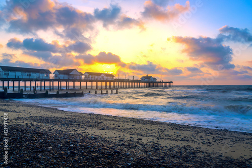 Sunrise at Southwold Pier, UK Fototapeta