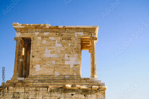 Fotografija  Temple of Athena Nike, the earliest fully Ionic temple on the Acropolis of Athens, Greece