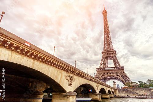 Papiers peints Paris Eiffel tower in Paris Europe