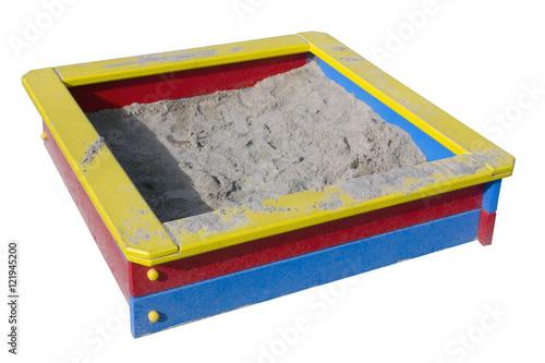 Fotografie, Obraz  Children wooden sand box