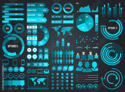 Photo  Mega Pack and Set Infographic Elements Vector Design Eps 10