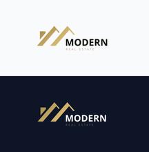 Modern Home Real Estate Logo