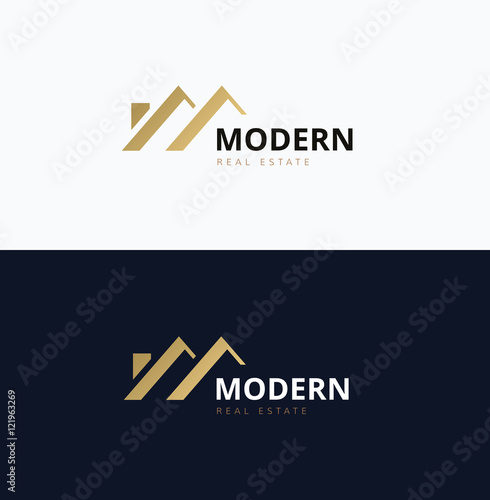 Obraz Modern Home Real estate logo - fototapety do salonu
