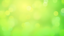 Springlike Bokeh Effect Background In Shades Of Green And Yellow