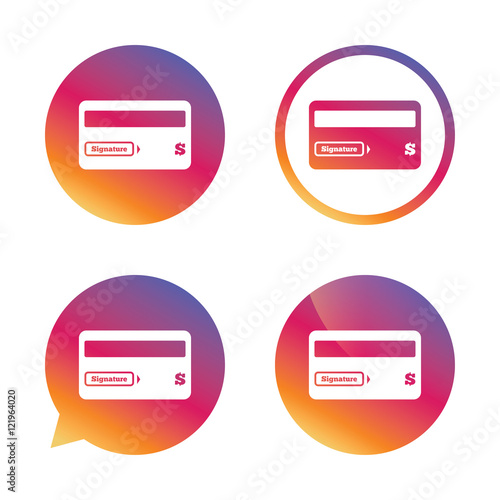 Credit Card Sign Icon Debit Card Symbol Buy This Stock Vector