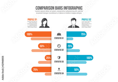 Comparison Infographic. Buy this stock template and explore similar ...