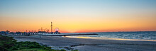 Sunrise On Galveston Beach Wit...