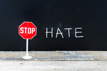 STOP HATE Message Written On C...