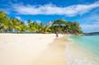 White sand beach on Malcapuya Island, Philippines