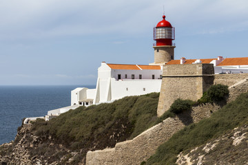 Fototapeta na wymiar Lighthouse of Sagres, most western point in Europe