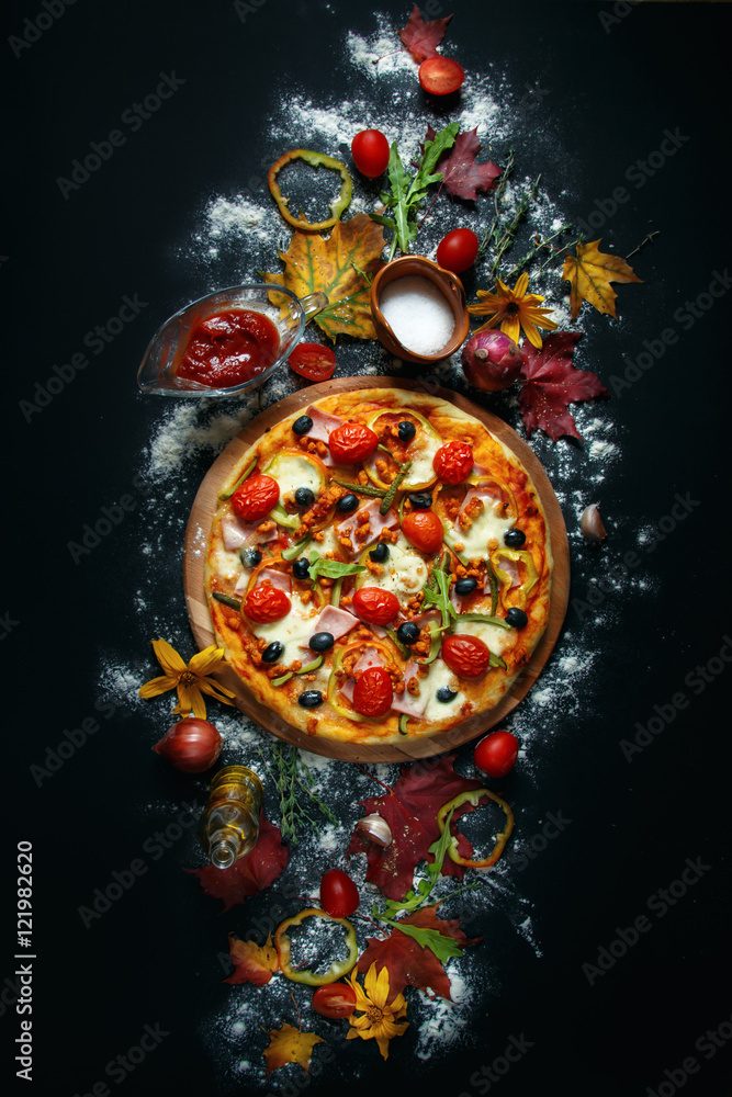 Autumn pizza.