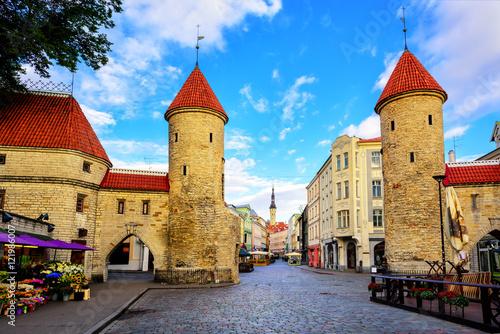 Viru Gate, old town of Tallinn, Estonia