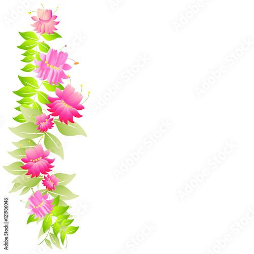 Foto op Canvas Bloemen vrouw flowers